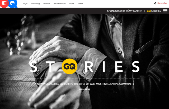 GQ Stories Homepage