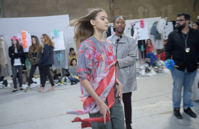 Backstage at the Hyères fashion show