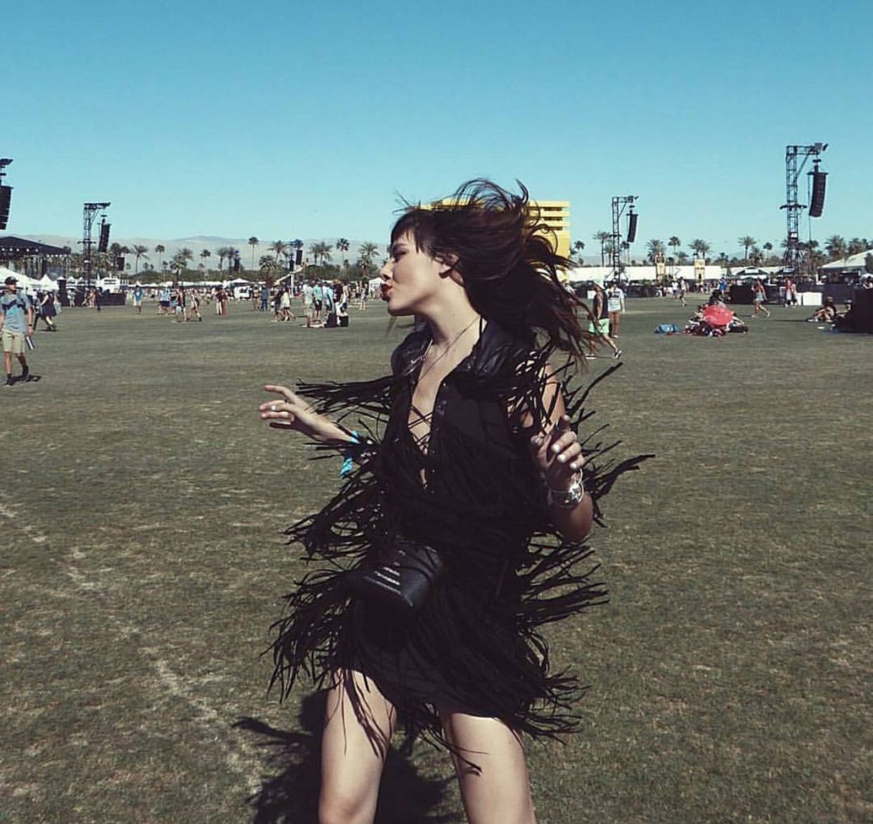 festival Haute Hippe Coachella Neiman Marcus Polaroid.