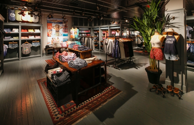 Interior of the Hollister store inside the Garden State Plaza