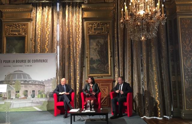 François Pinault, Anne Hidalgo, François-Henri Pinault