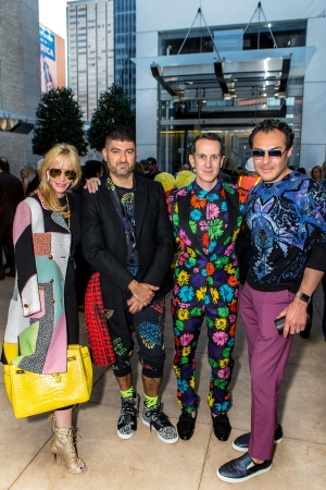 Nancy Rogers, Pablo Olea, Jeremy Scott and Michael Flores at The Joule hotel.
