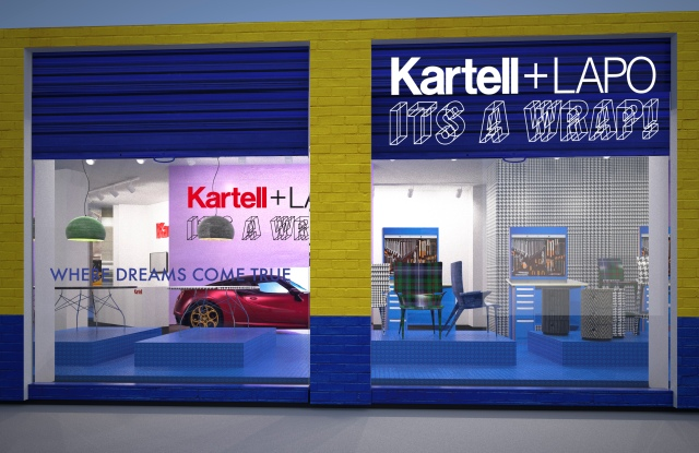 Rendering of Kartell's flagship on Milan's Via Turati