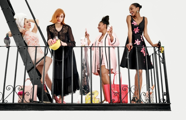 Karley Sciortino, Tracy Antonopoulos , Paloma Elesser and Jourdan Dunn for Kate Spade Summer 2016.