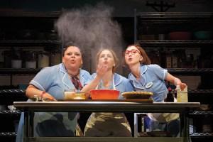 "Keala Settle, Jessie Mueller and Kimiko Glenn in ""Waitress."""