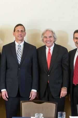 Robert Chapman, Inman Mills; Jeff Price, Milliken & Co.; William V. McCrary, Jr., William Barnet and Son LLC; Augustine Tantillo, NCTO