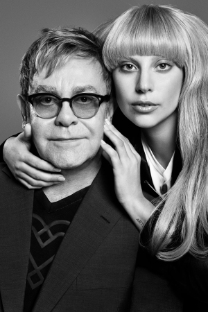 Elton John and Lady Gaga collaborated on a limited-edition line of clothing and accessories called Love Bravery.