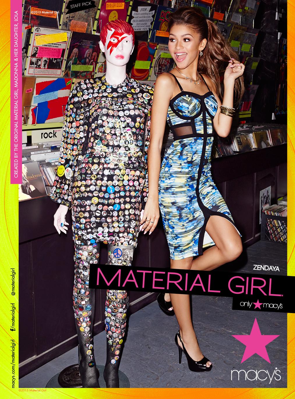 Zendaya for Material Girl.