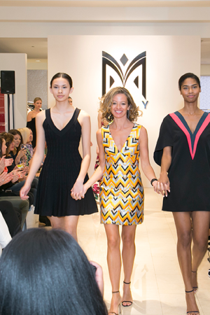 Michelle Smith at the show for her Milly label at Neiman Marcus in Chicago.