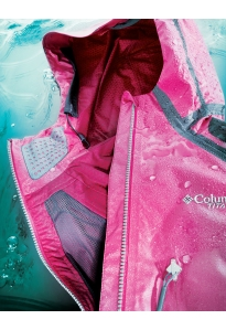 Rain on Me Meant to have the effect of a raincoat turned inside out, Columbia Sports- wear's OutDry Extreme has a tough waterproof membrane exterior and a soft wicking fabric inside.