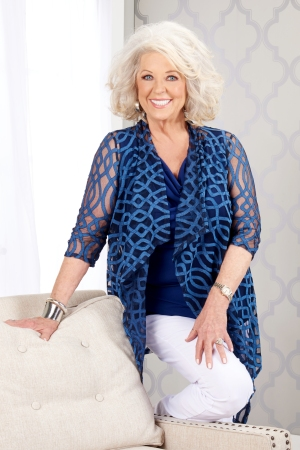 Paula Deen, with a look from her closet.