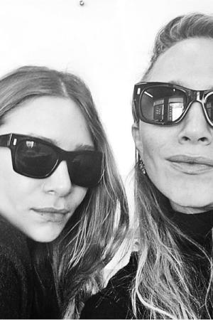The Olsen sisters' first Instagram selfie.