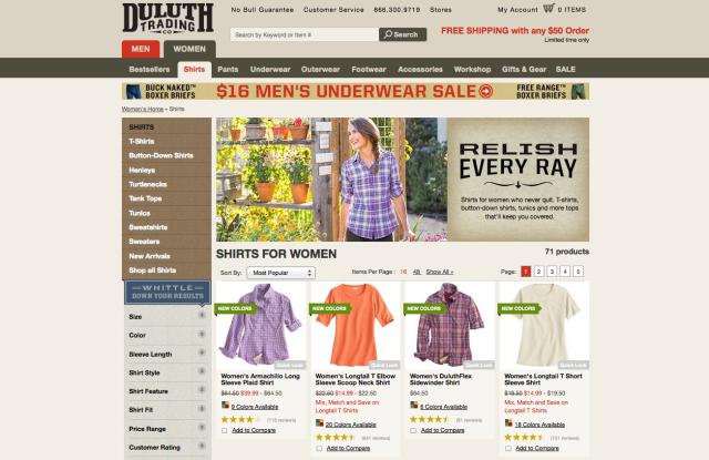 Duluth Holdings website.