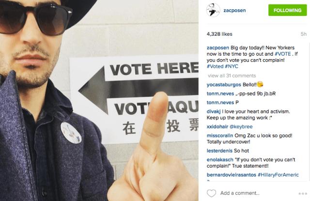 Zac Posen Vote Instagram