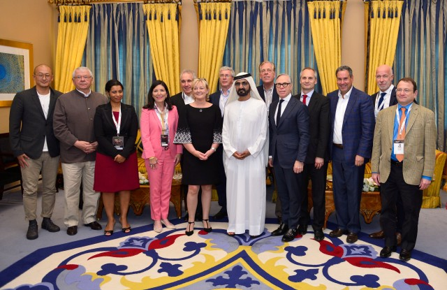 Sheikh Mohammed met with retail leaders including Jo Malone and Tommy Hilfiger along the sidelines of the World Retail Congress.