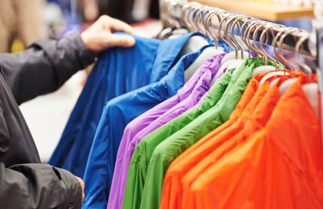 Apparel spending showed a 12.6 percent gain in the reported period.