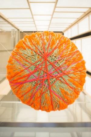 Sheila Hicks soft stone fiber sculpture.