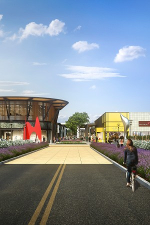 A rendering of Stanford Shopping Center.