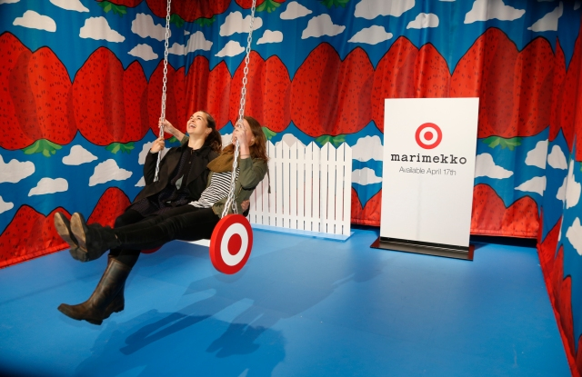 Visitors who braved the chill winds at the High Line on Friday enjoyed Marimekko for Target's immersive activities and shopping the collection.
