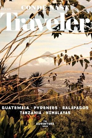 Condé Nast Traveler's April 2016 cover.