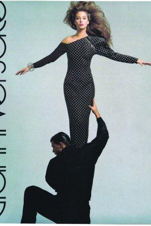 Christy Turlington with Gianni Versace