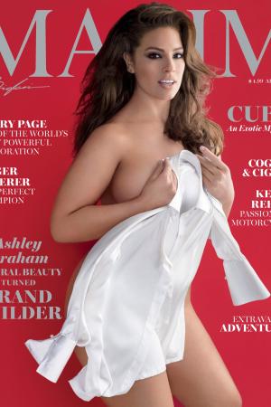 Ashley Graham on Maxim's April 2016 Cover