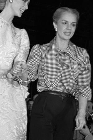 Carolina Herrera at her first runway show on April 27, 1981 at the Metropolitan Club in New York City.