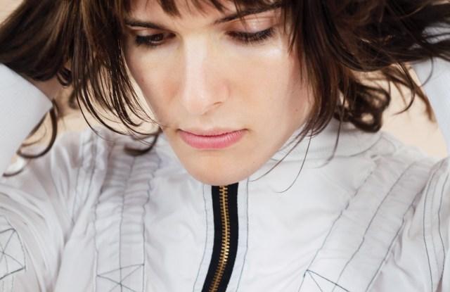 Images from Kruszewski's fall lookbook, featuring transgender actress Hari Nef.