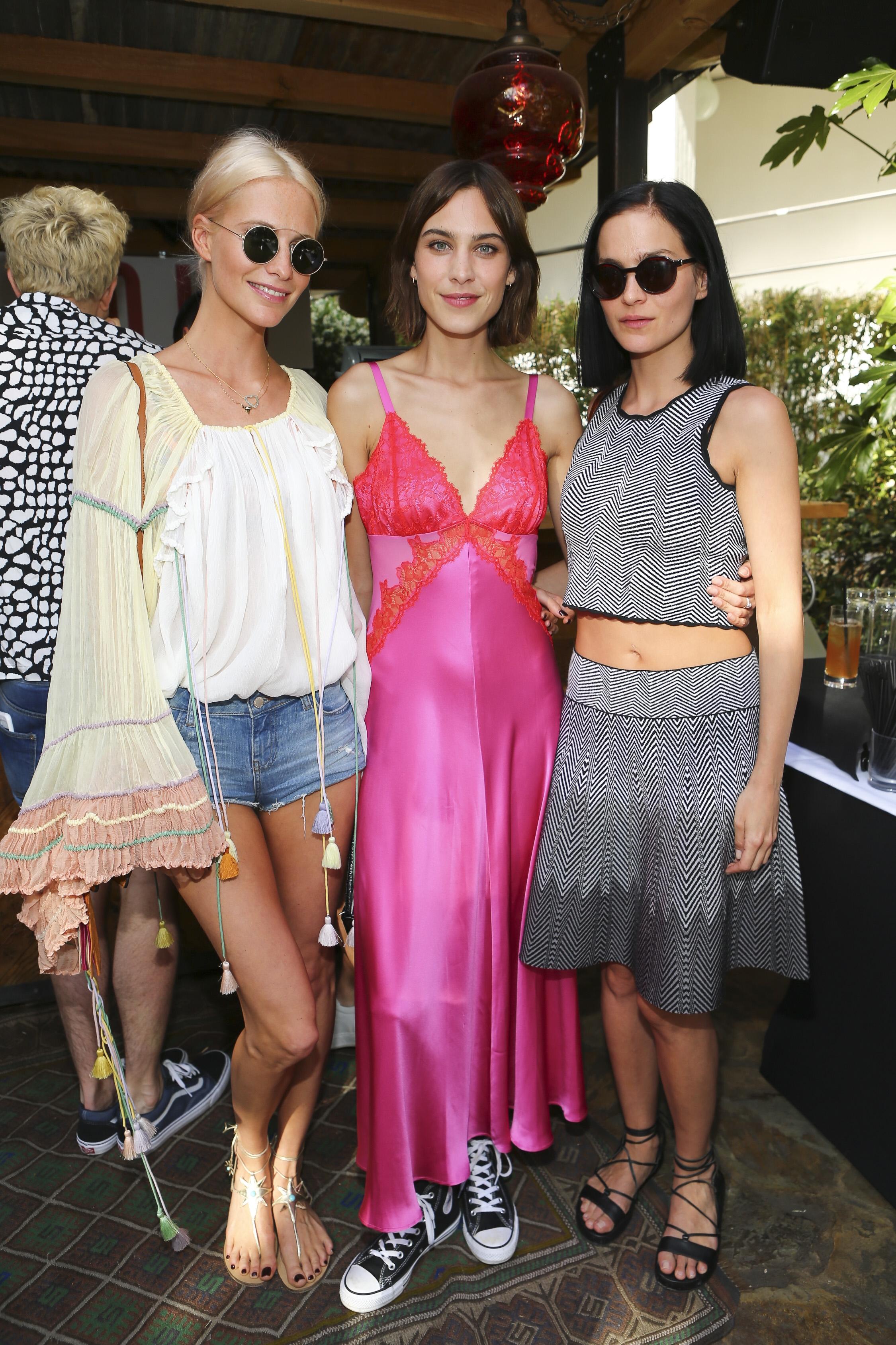 Poppy Delevingne, Alexa Chung and Leigh Lezark Villoid Fashion App Party