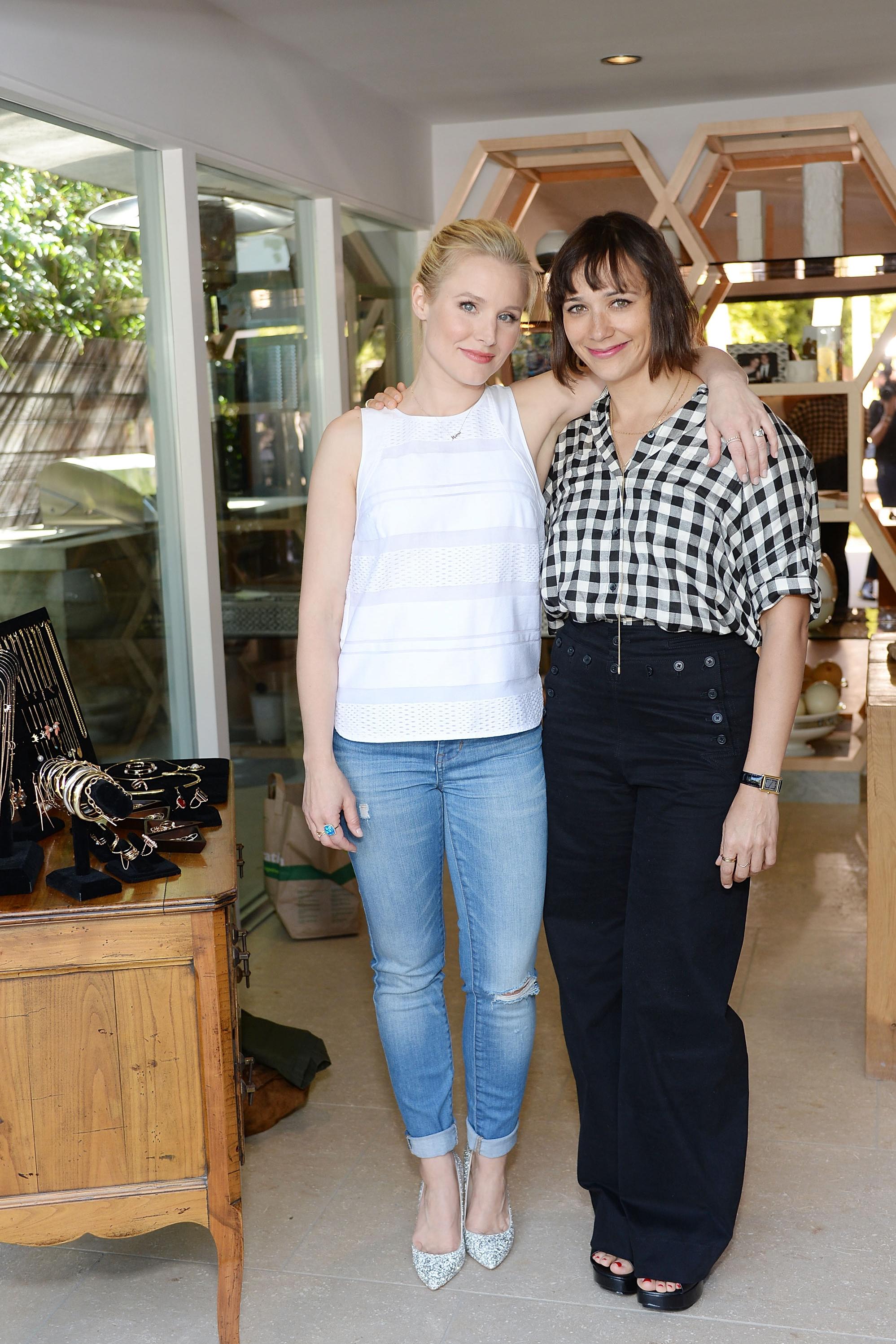 Kristen Bell and Rashida Jones Vince Camuto Ashlee Margolis party