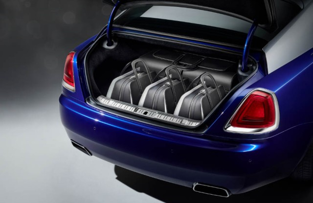 The collection fits perfectly in the trunk of the Wraith.