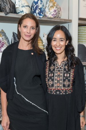 Christy Turlington Burns and Mariam Naficy at the Minted pop-up opening