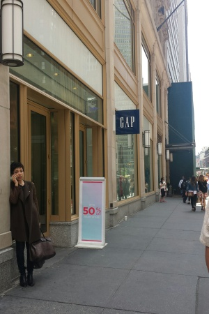 A Gap store in New York City.