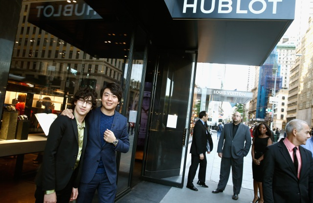 Lang Lang and  Maxim Lando at Hublot Fifth Avenue boutique.