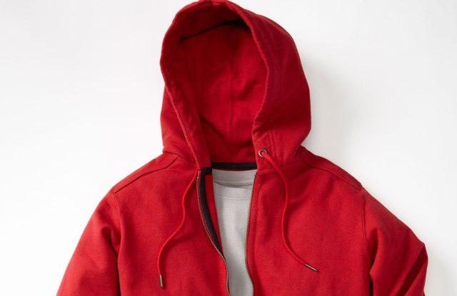 The American Giant hooded, zip-up sweatshirt.