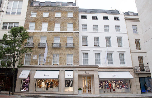 The exterior of the four-level boutique on New Bond Street.