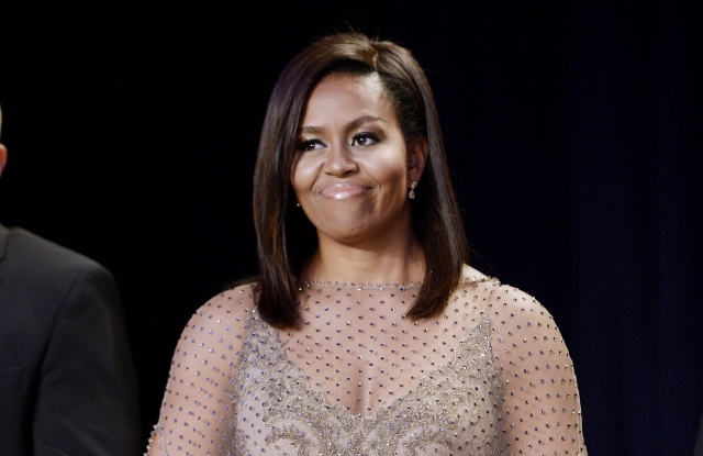 Michelle Obama in Givenchy at the 2016 White House Correspondents Dinner.