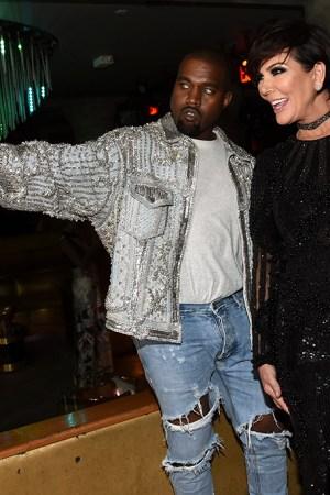 Kanye West, Kim Kardashian and Kris Jenner Balmain Met Gala 2016 After Party
