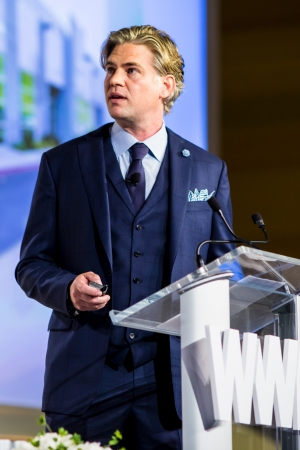 Chris Birchby at the 2016 WWD Beauty CEO Summit