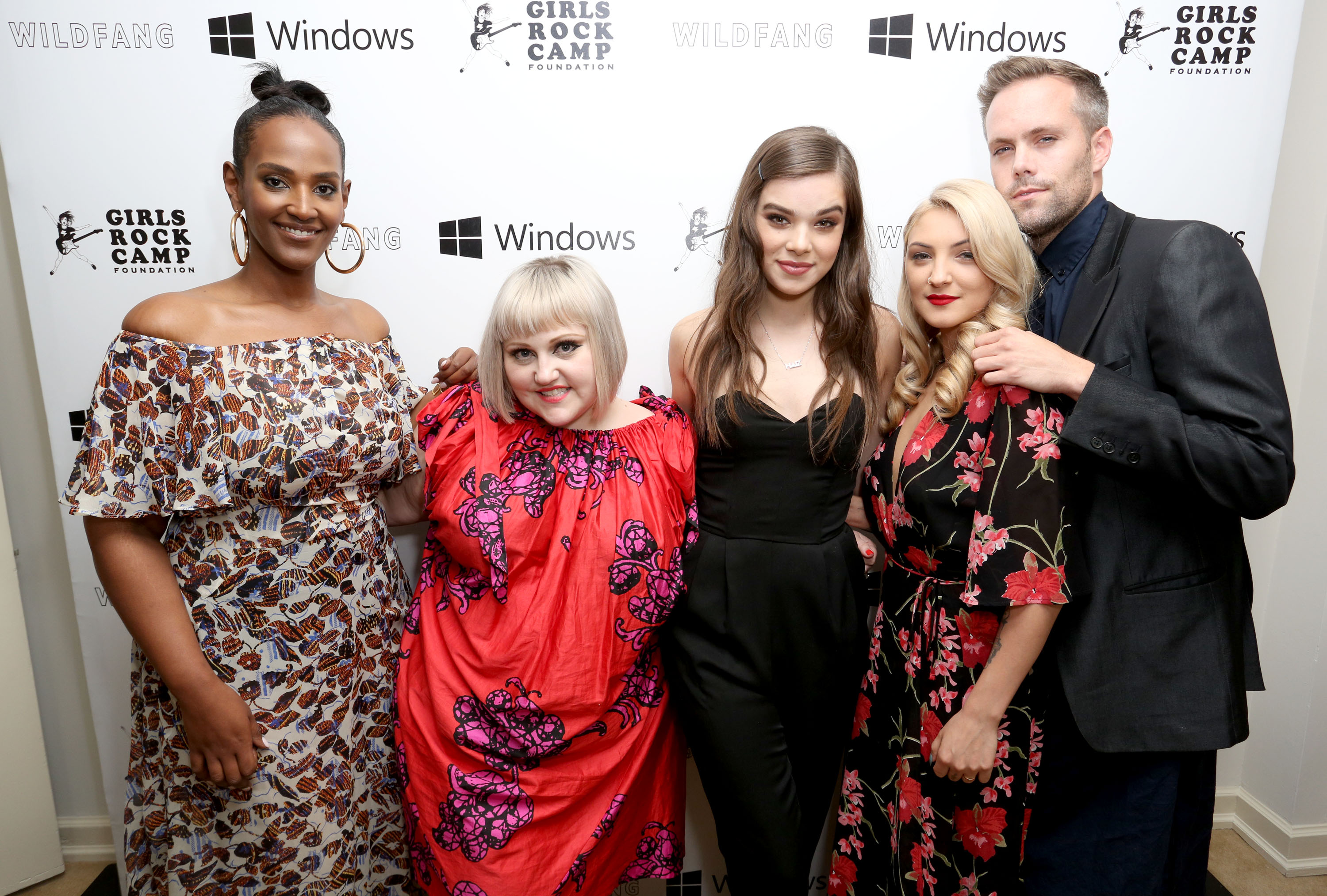 Beth Ditto with Ethiopia Habtemariam, Hailee Steinfeld, Julia Michaels and Justin Tranter.