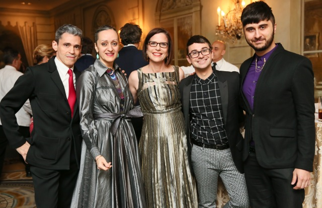 From left, Ruben and Isabel Toledo, Linda Heasley, Christian Siriano and Brad Walsh.