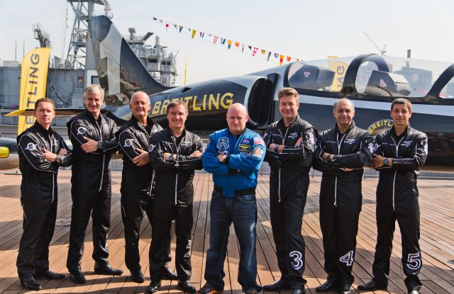 Scott Kelly and the Breitling Jet Team