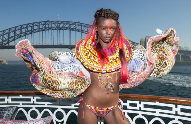 Camilla showed on a cruise around Sydney Harbour.