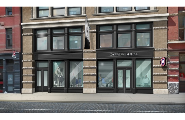 Canada Goose Wooster Street exterior.
