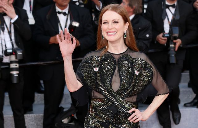 Julianne Moore in custom Givenchy Couture at 2016 Cannes Film Festival