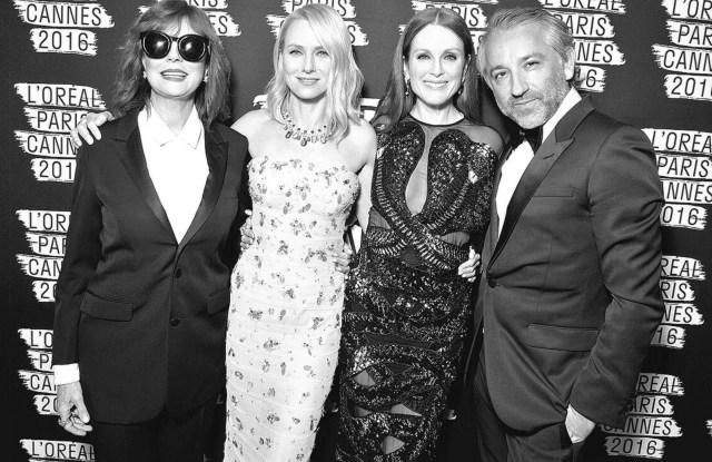 Susan Sarandon, Naomi Watts, Julianne Moore and Cyril Chapuy.