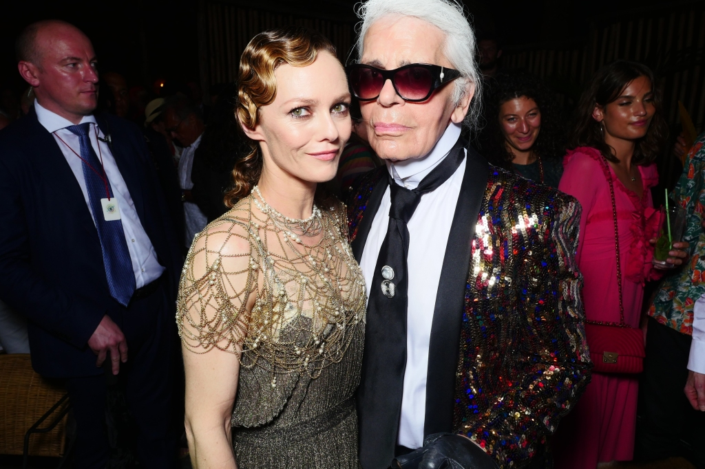 Vanessa Paradis and Karl Lagerfeld Chanel's Cruise collection afterparty in Havana, Cuba