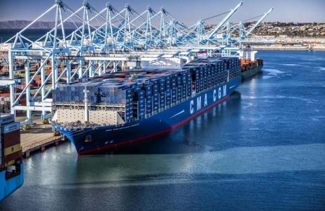 CMA CGM Benjamin Franklin in the Port of Los Angeles