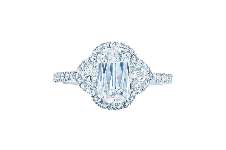 Kwiat's diamond ring in platinum setting.