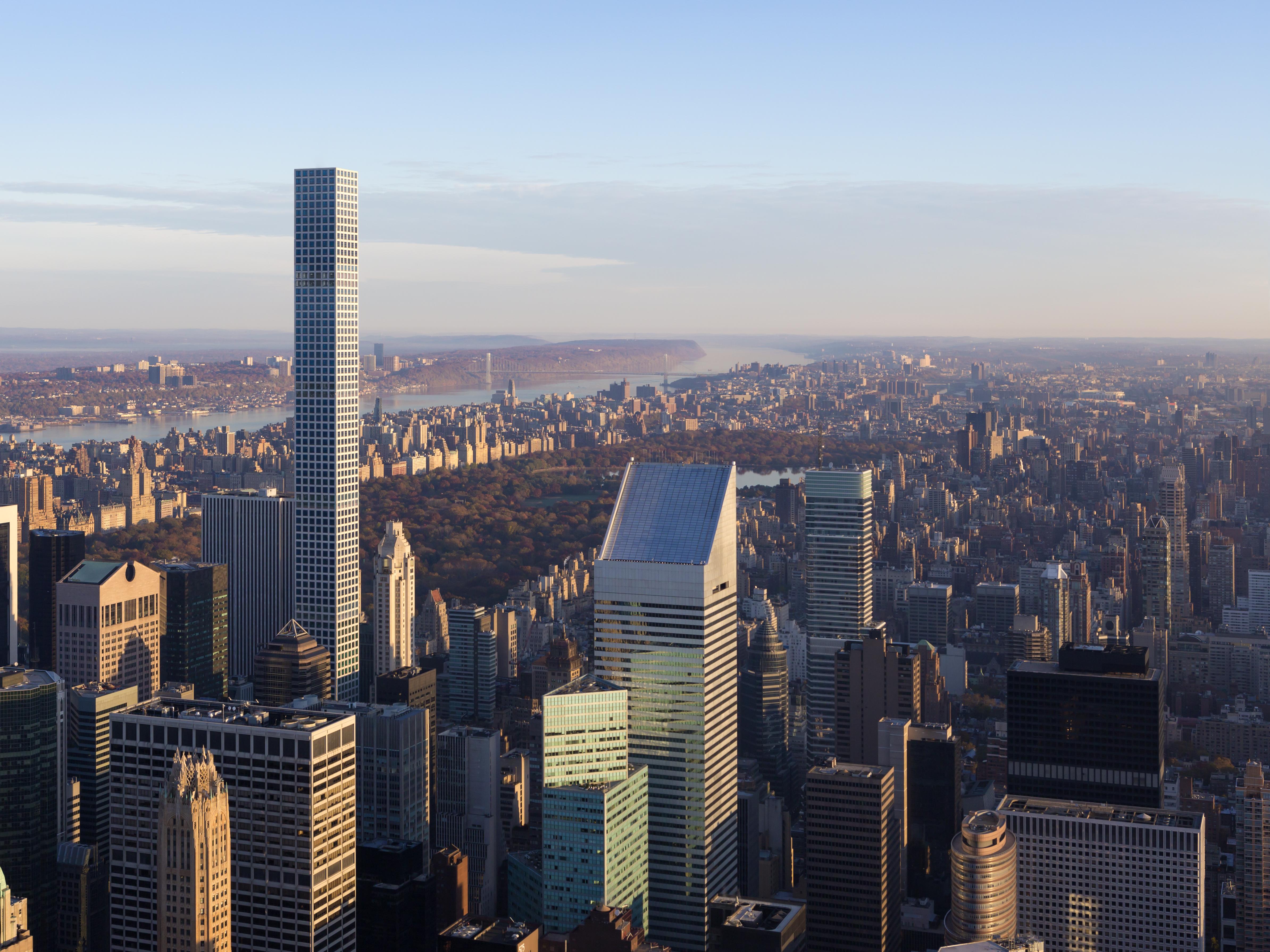 432 Park Avenue towers over Manhattan.